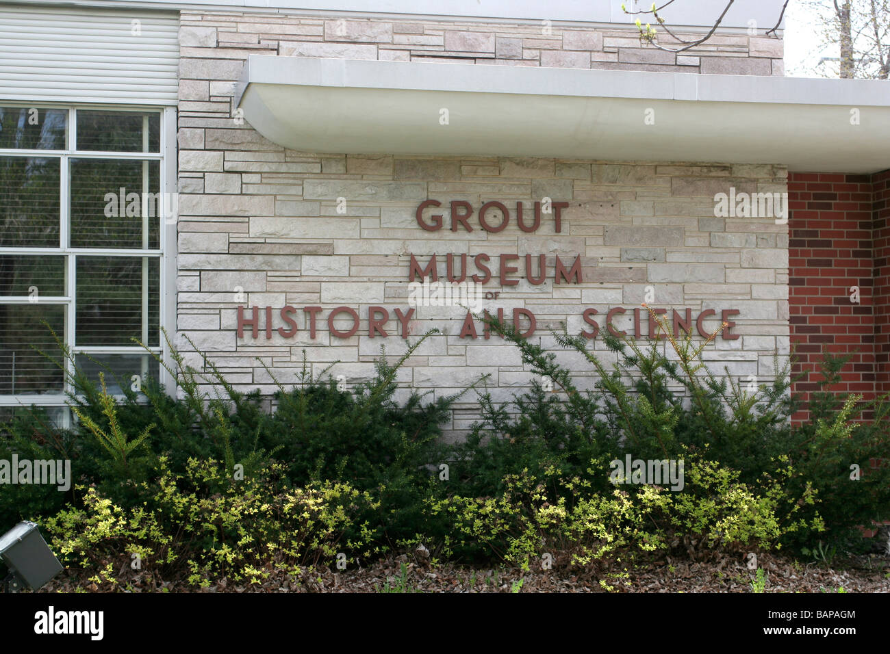 Grout Museum of History and Science Waterloo Iowa - Stock Image