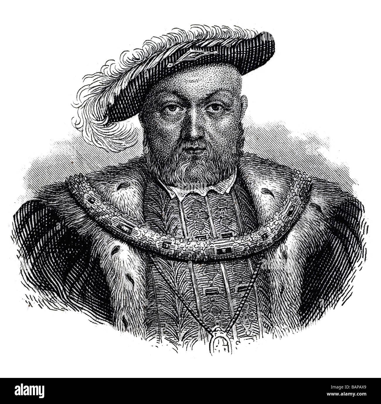 Henry VIII King of England - Stock Image