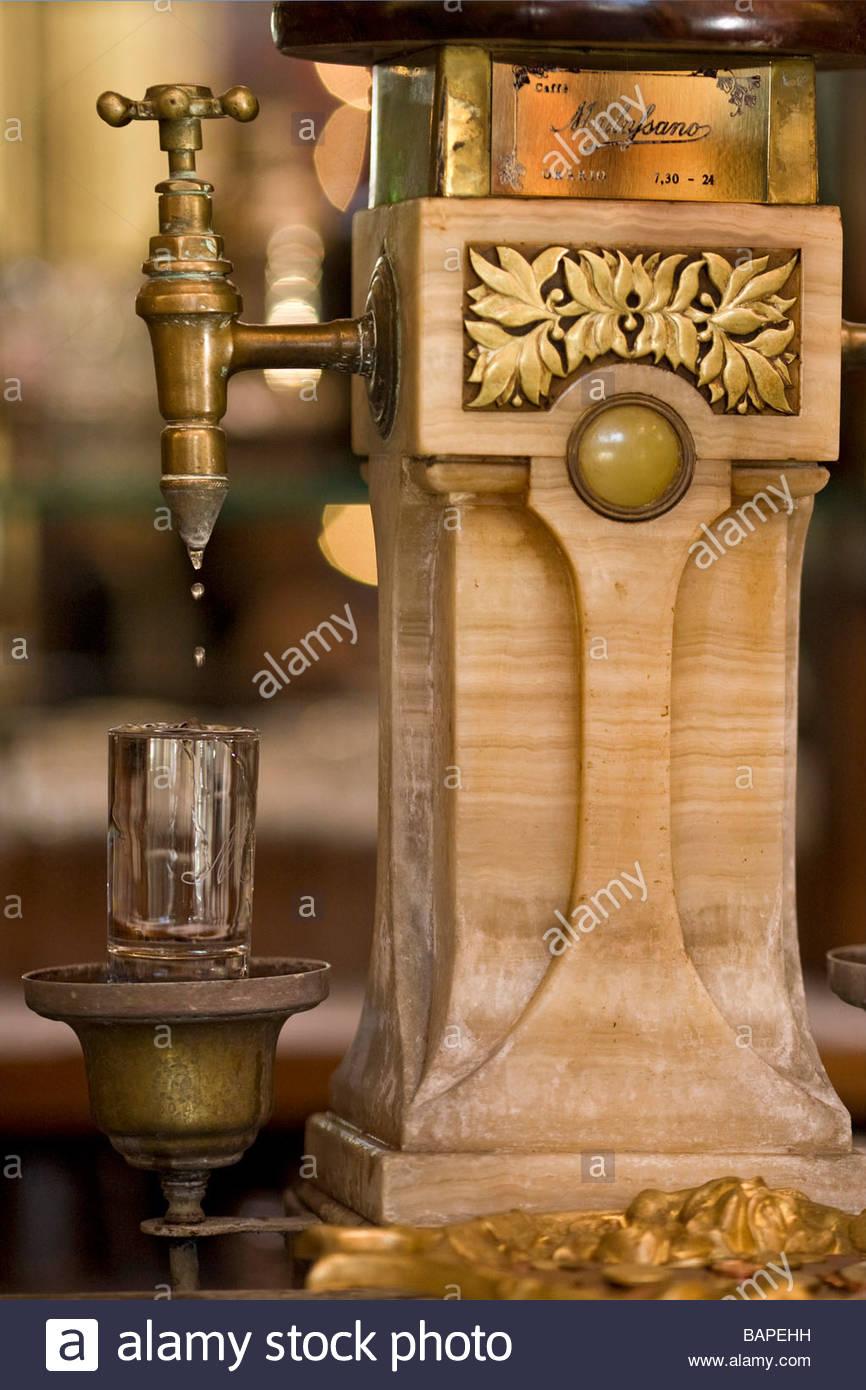 drinking fountain  caff mulassano  turin  italy - Stock Image