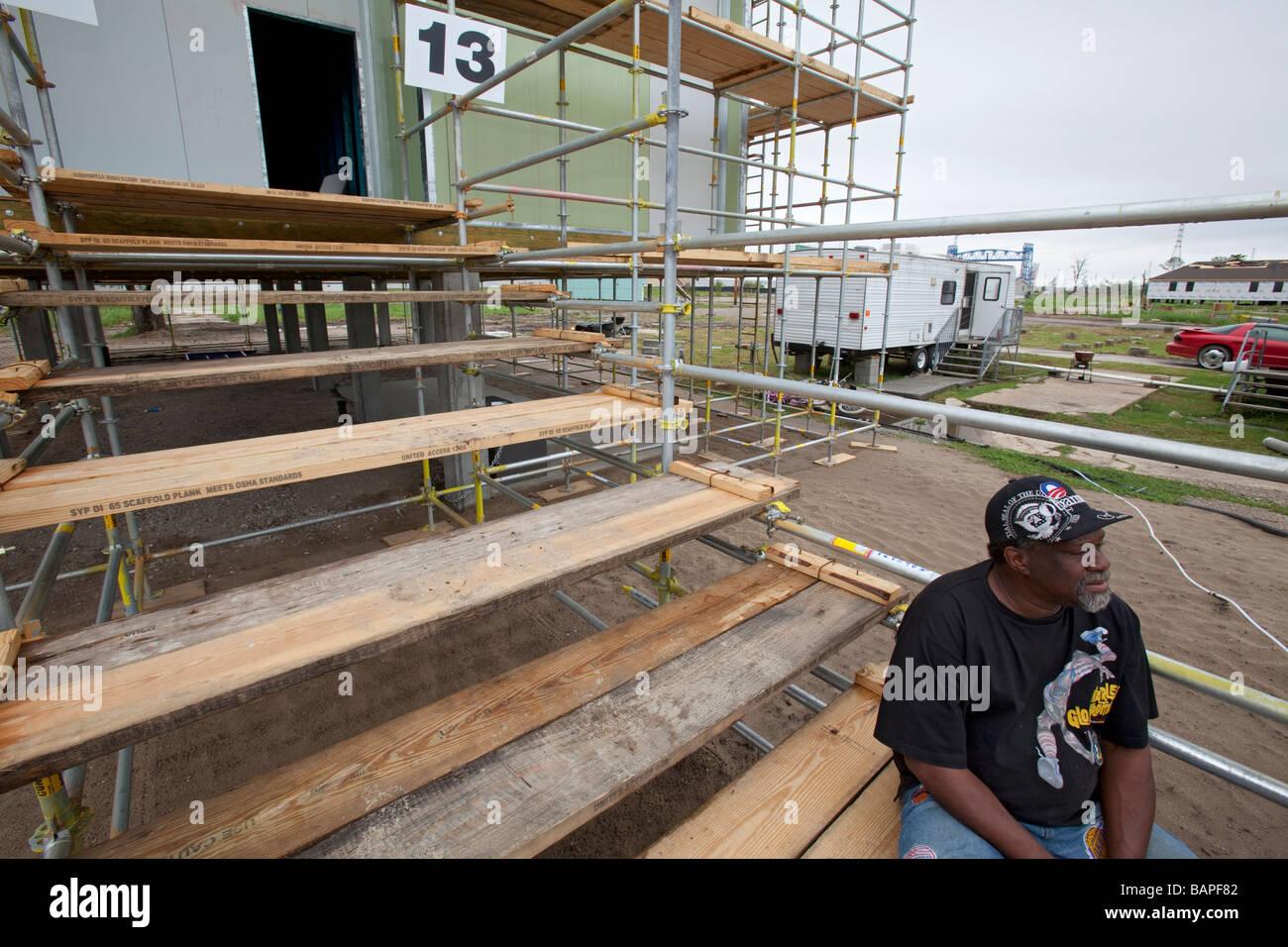 Hurricane Katrina Survivor in Lower Ninth Ward - Stock Image
