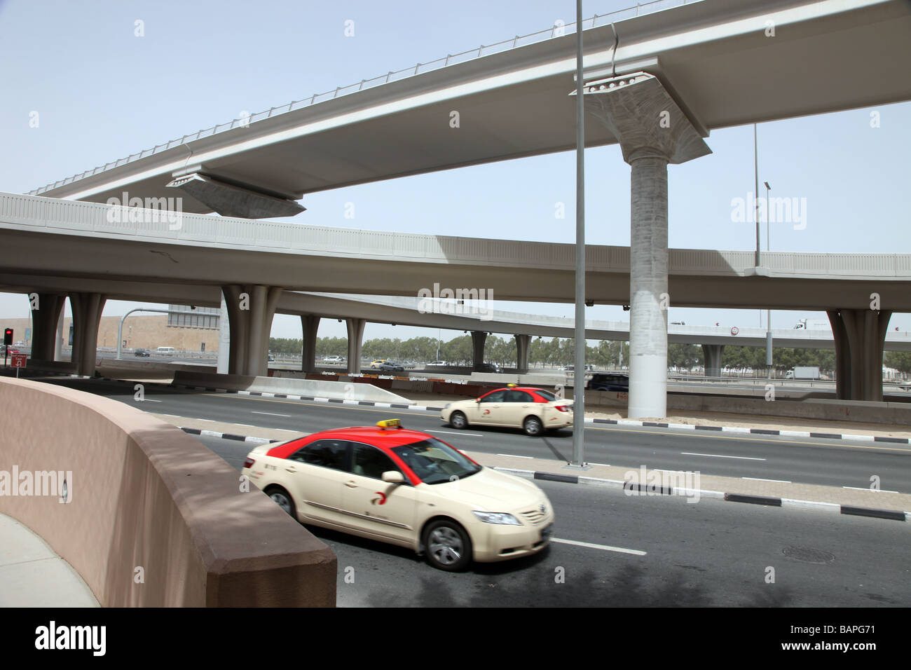 Highways of Dubai city centre United Arab Emirates - Stock Image