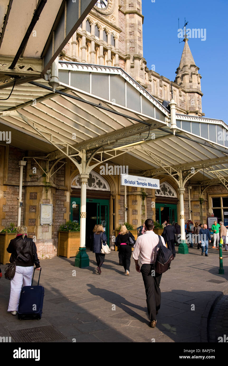 Bristol Temple Meads Railway Station entrance Stock Photo