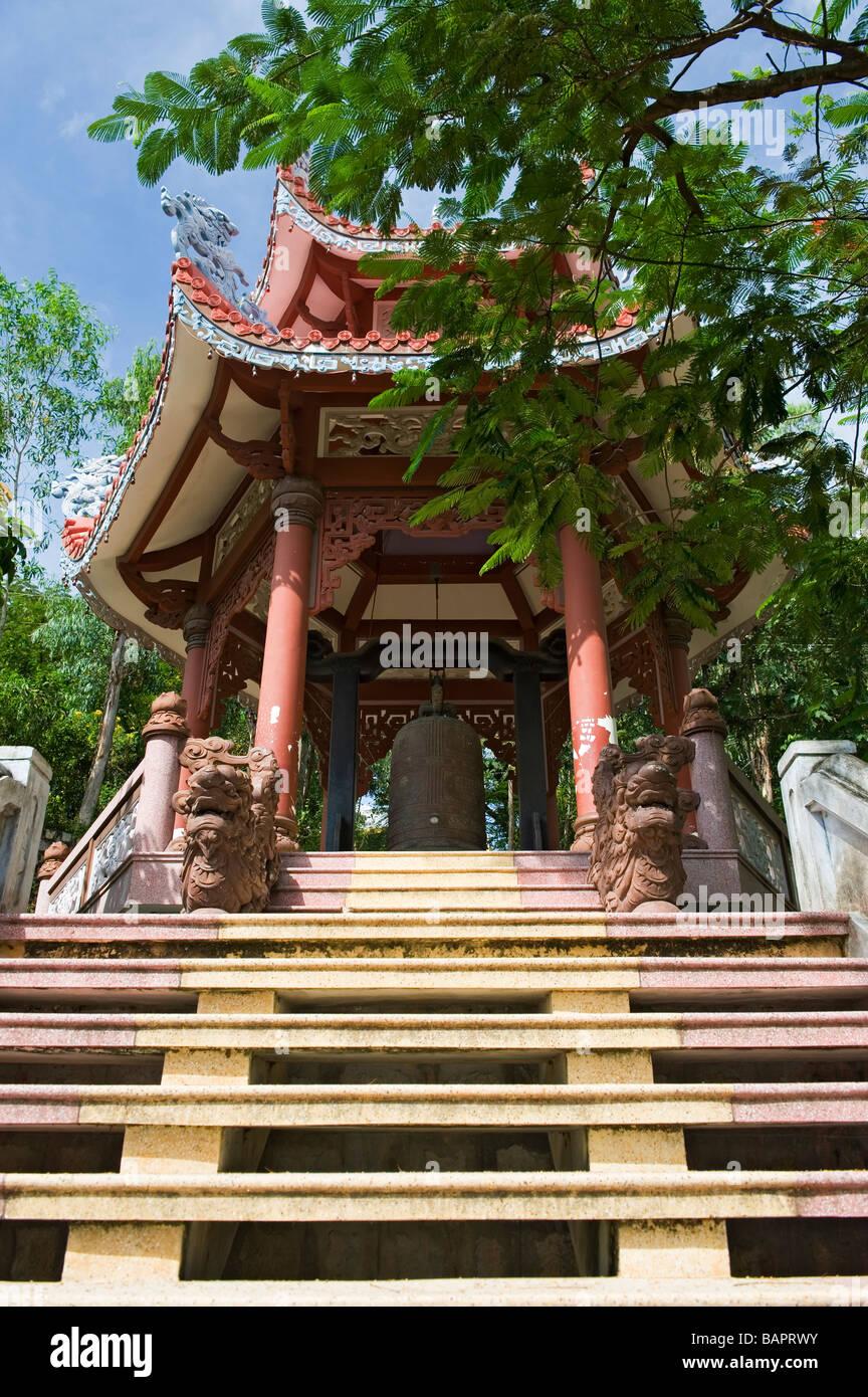 Pagoda at the Long Son Temple, Nha Trang, Vietnam Stock Photo
