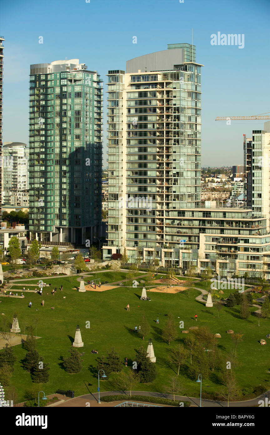 The condominium towers of Yaletown.   Vancouver BC, Canada - Stock Image