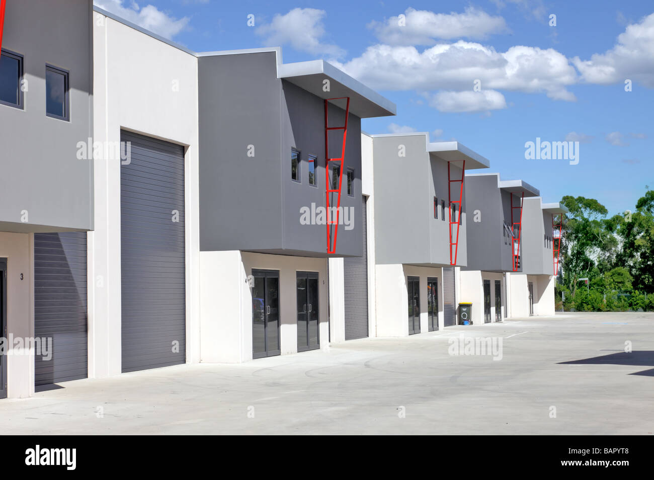 New vacant industrial units - Stock Image