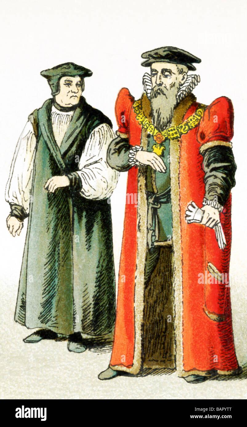 English Bishop and Lord Mayor - Stock Image