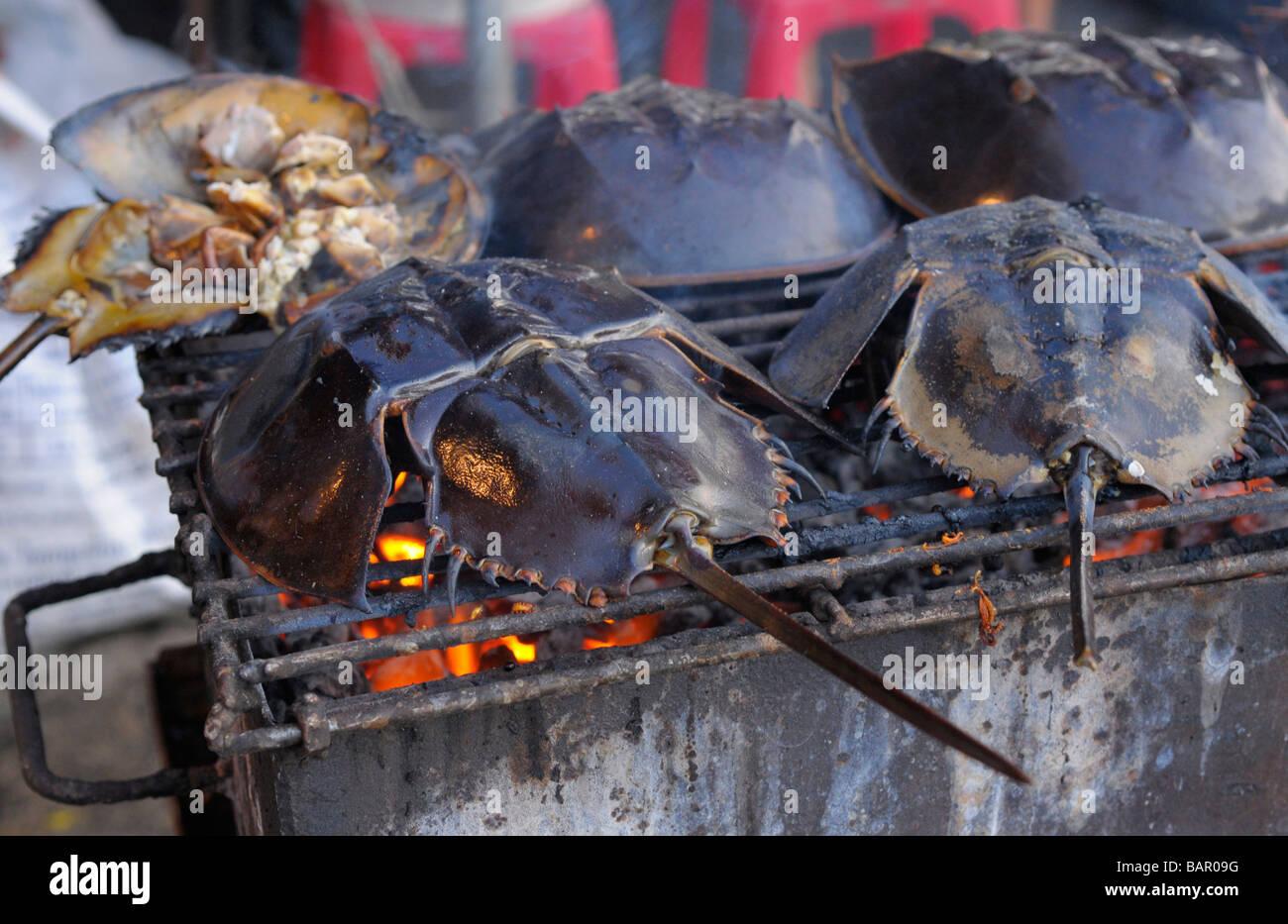 bbq king crab. Stock Photo