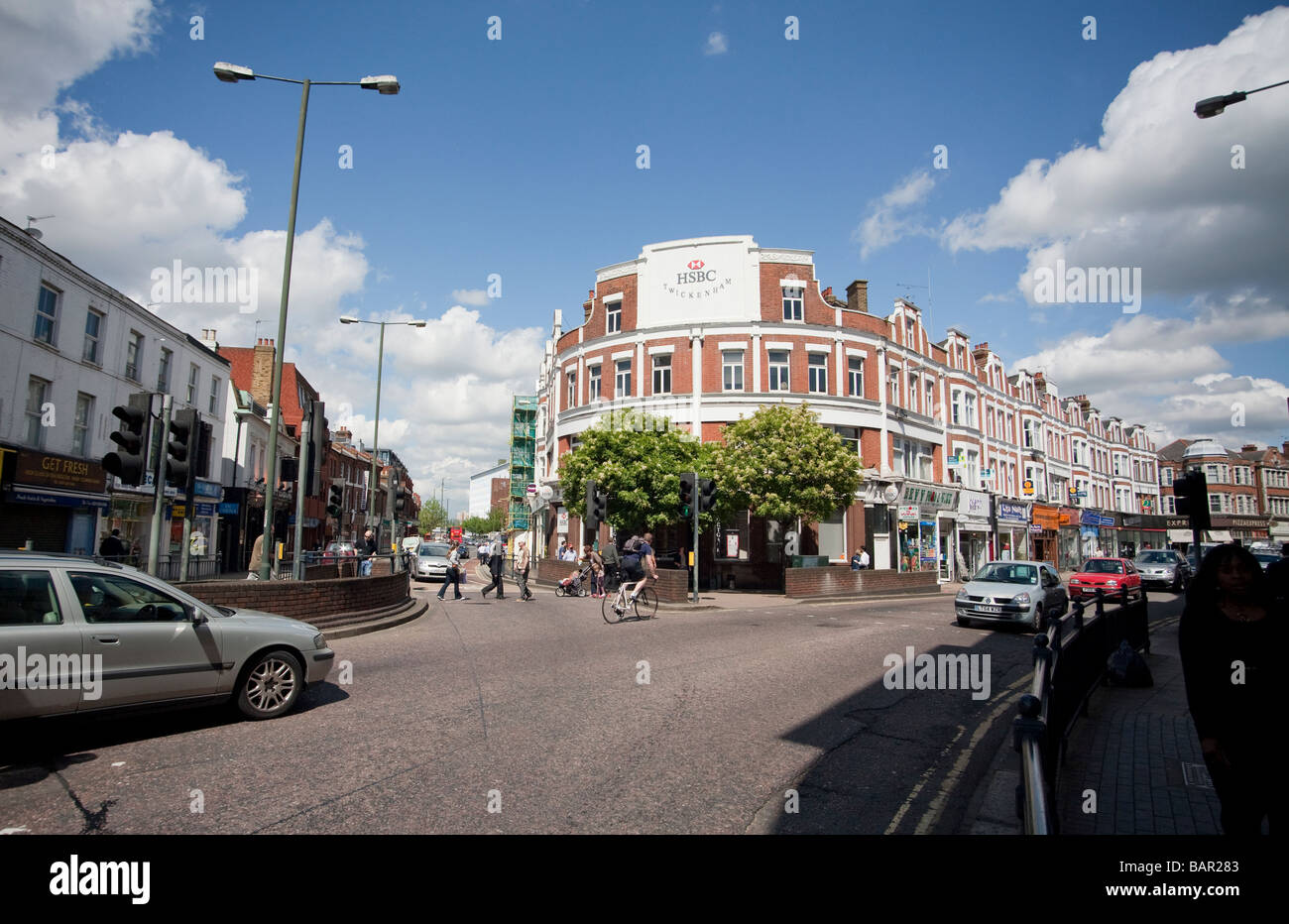 the centre of Twickenham London UK Stock Photo