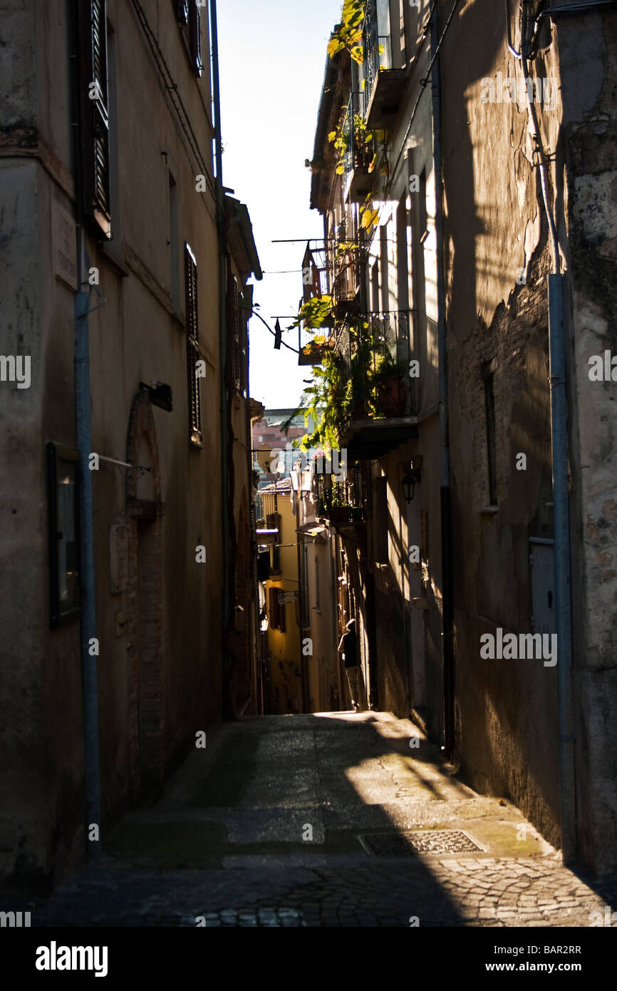 street in southern Italy, Pietrelcina - Stock Image