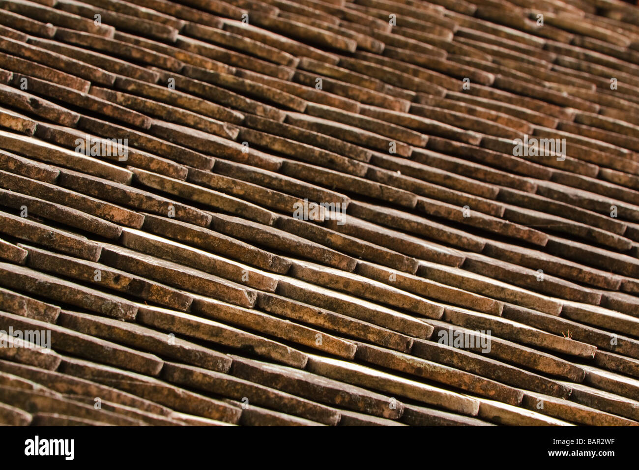 roof tile pattern - Stock Image
