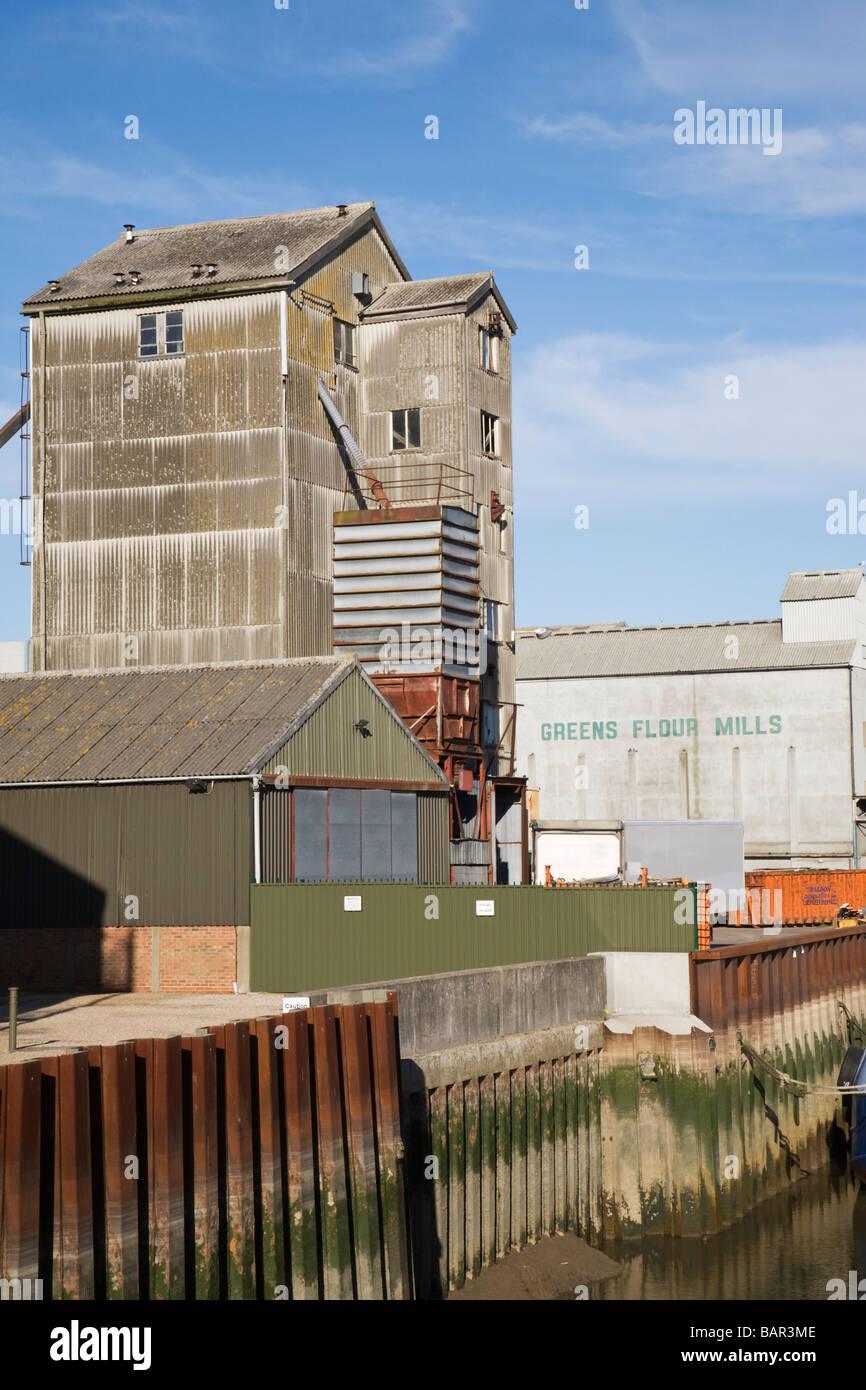 Greens Flour Mills in Maldon, Essex, England, UK Stock Photo