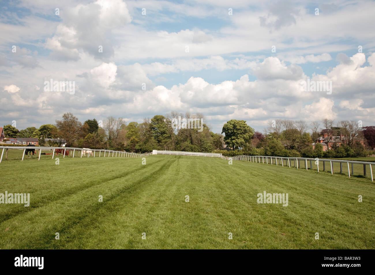 Race course Beverley Westwood, Beverley, East Yorkshire, England, UK - Stock Image