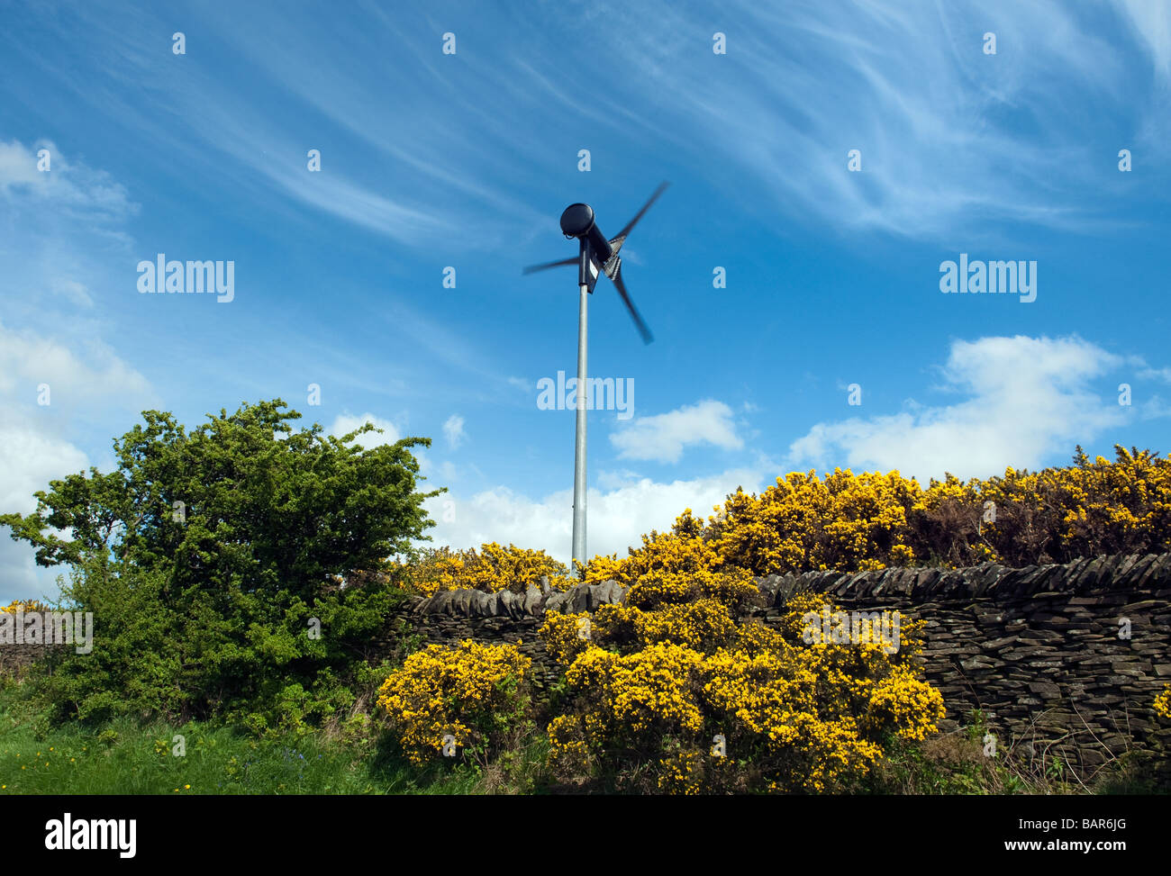 Small domestic 6kw wind turbine Stock Photo: 23867048 - Alamy