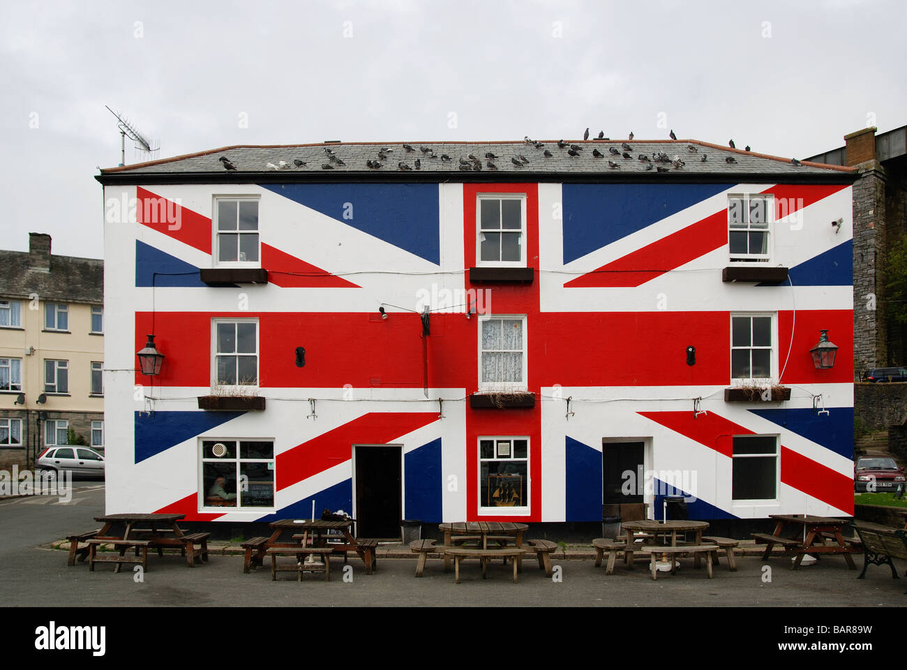 the union inn at saltash in cornwall,uk - Stock Image