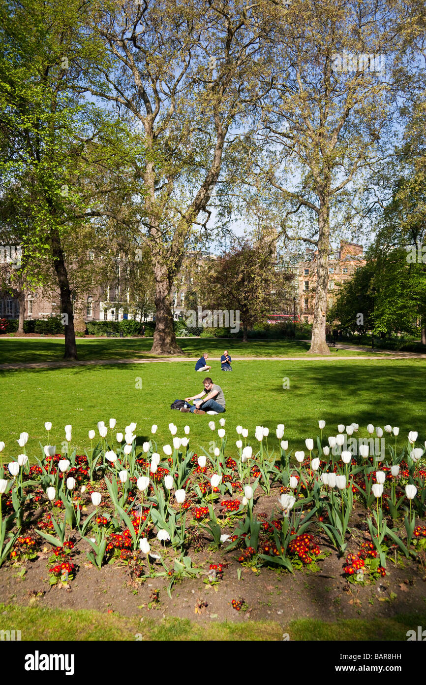 Russell Square, Bloomsbury, London, England, UK - Stock Image
