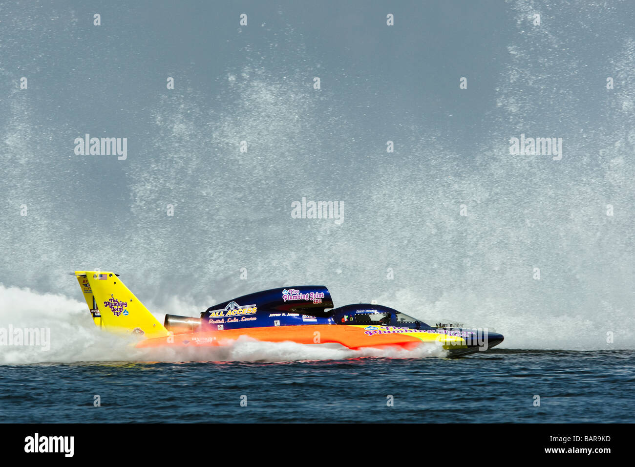 Hydroplane Racing: Brian Perkins driving his 'The Plumbing