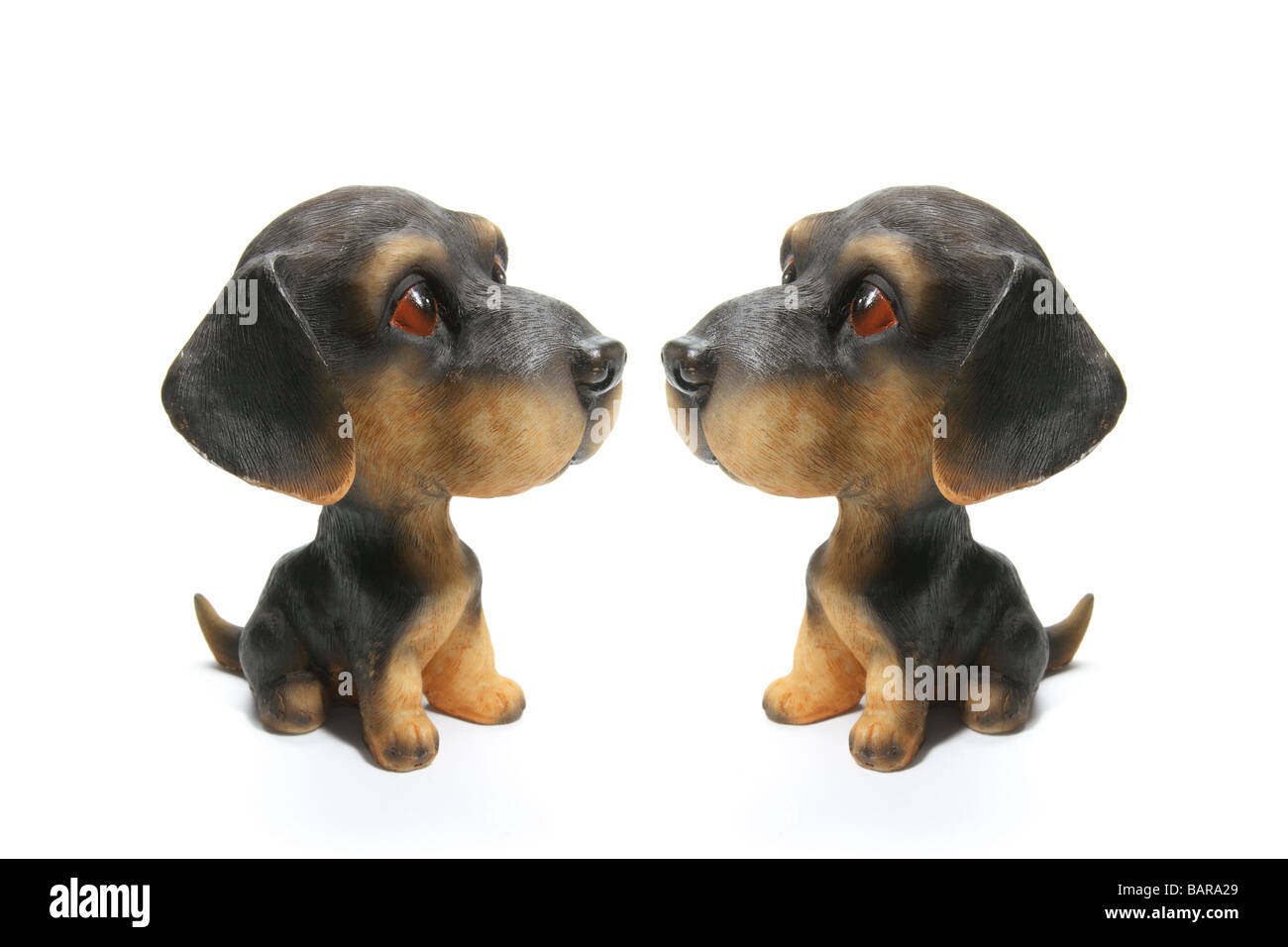 Dog Figurines Stock Photo