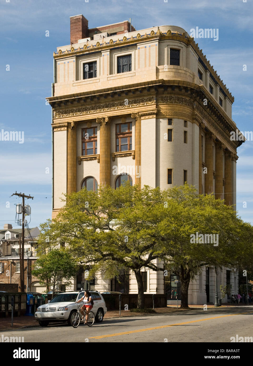The Scottish Rite Temple was built in 1913 and is located at 341 Bull Street - Stock Image