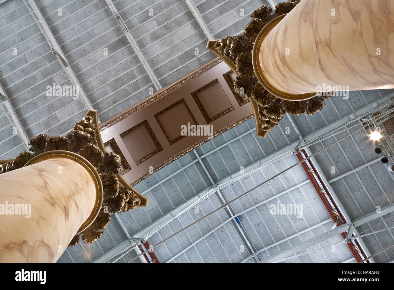 National Building Museum in Washington, DC, a museum of architecture, design, engineering, construction, and urban - Stock Image