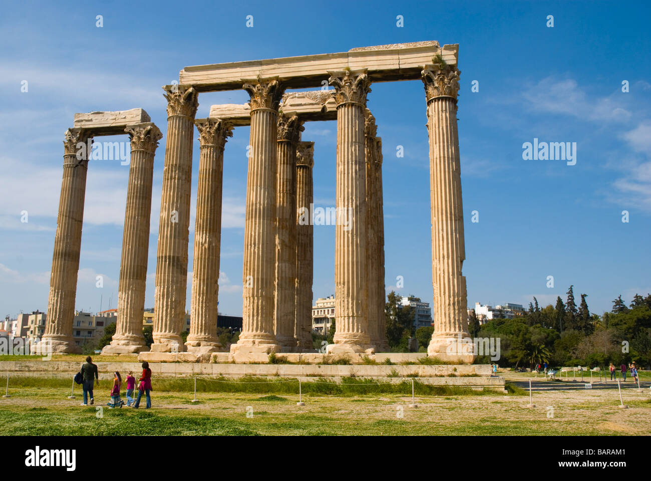 Temple of Olympian Zeus in Athens Greece Europe - Stock Image