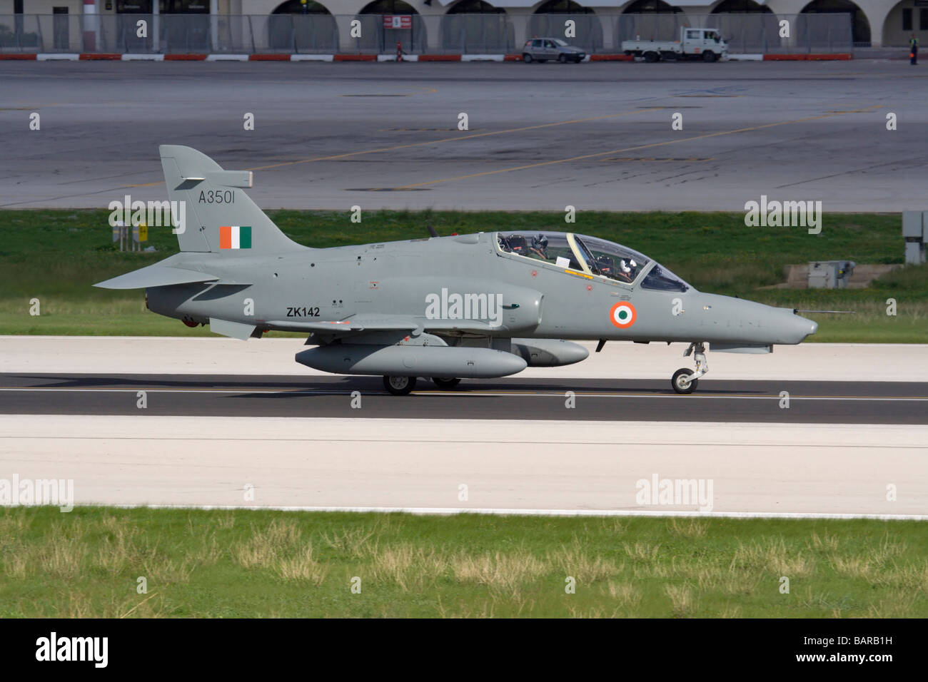 Military aviation. BAE Systems Hawk 132 trainer plane of the Indian Air Force - Stock Image