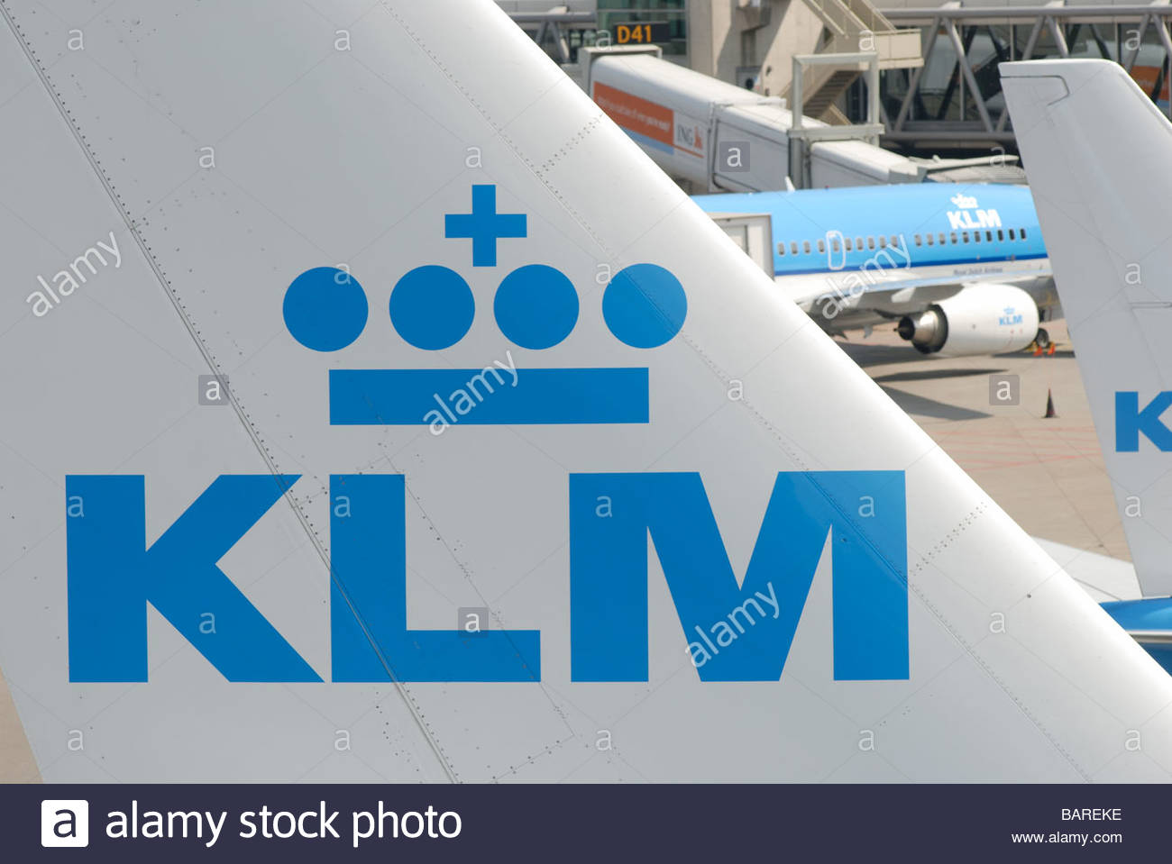 Schiphol Airport The Netherlands KLM Airbus A330 on the apron. - Stock Image