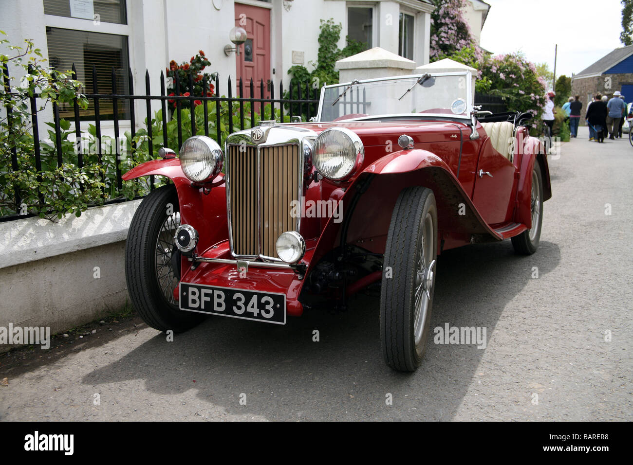 Mg Old Sports Car Stock Photos & Mg Old Sports Car Stock