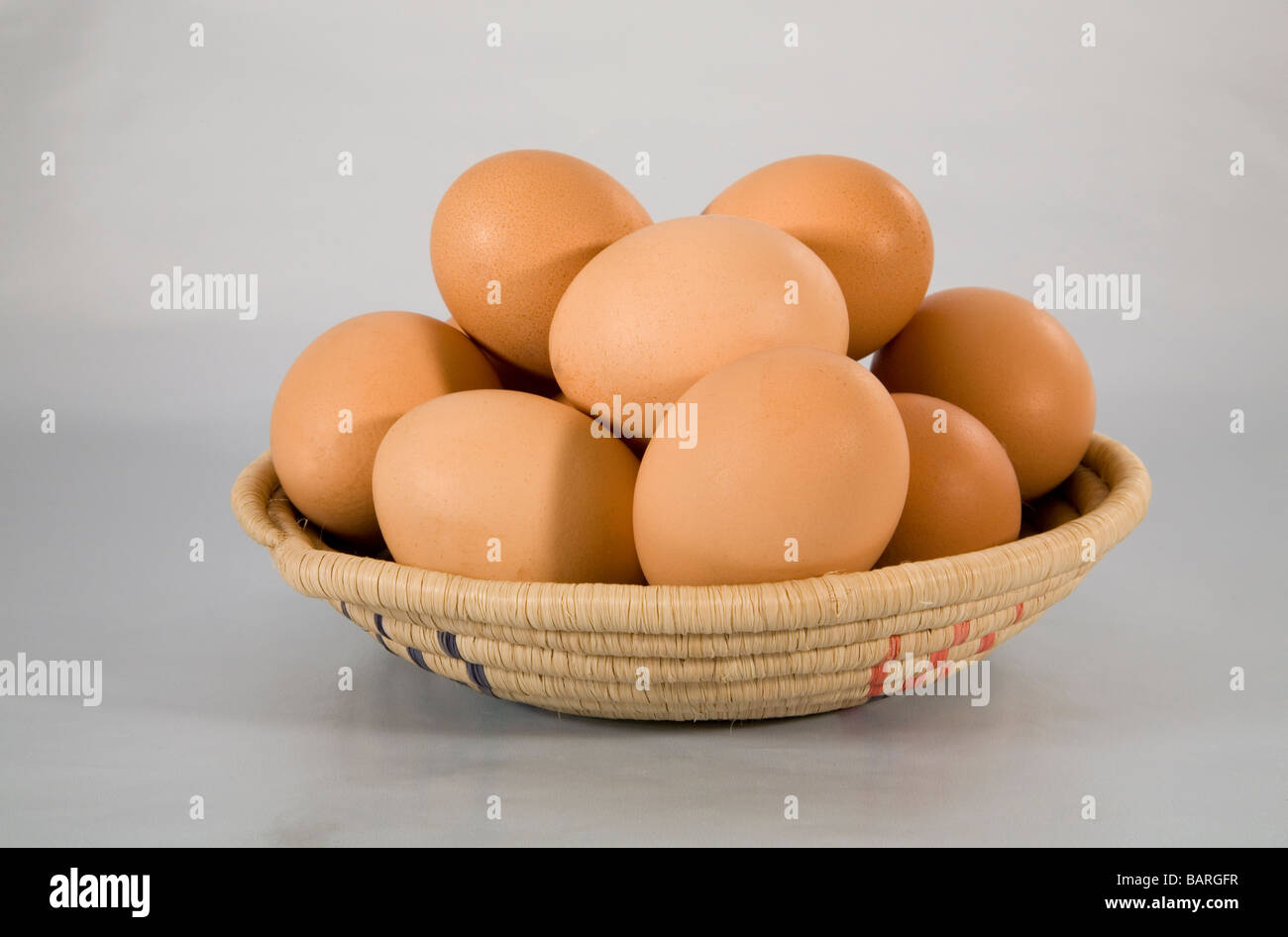 Never put all your eggs in one basket - Stock Image