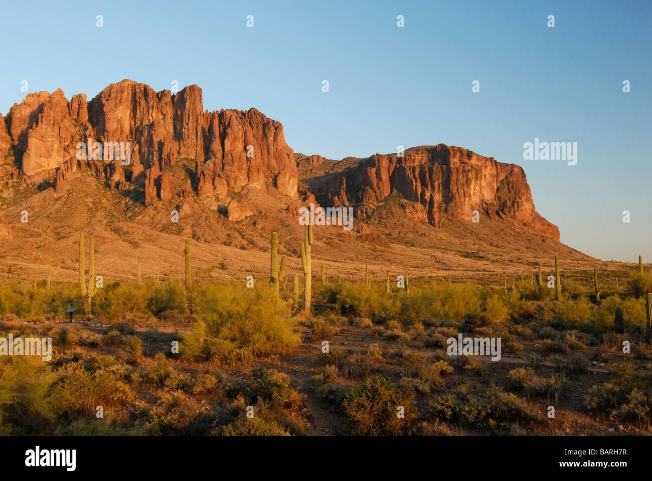 superstition mountains in southern arizona near phoenix stock photo