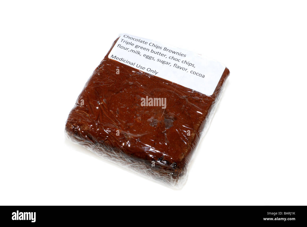 Brownie with triple green butter a medical cannabis edibles - Stock Image