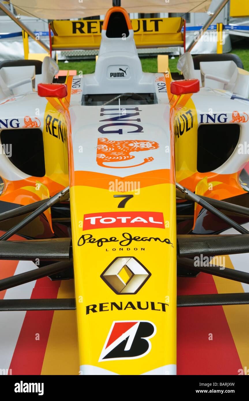 R29 Renault Formula 1 F1 chassis on display - Stock Image