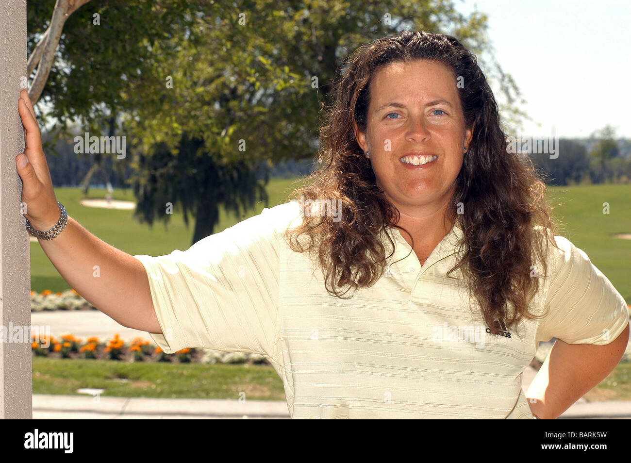 Fanny Sunesson is most noted as being the golf caddie for Nick Faldo from 1990 to 1999. Stock Photo