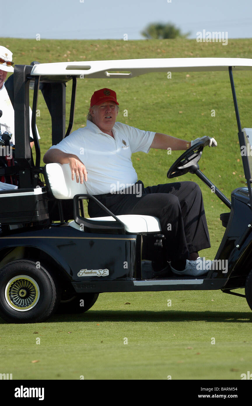 Donald Trump Golf Cart High Resolution Stock Photography and Images - Alamy
