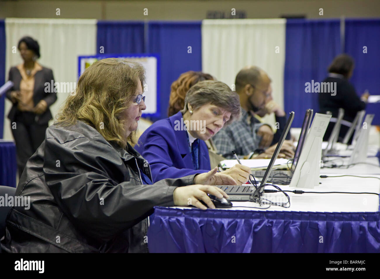 Job Seekers at Job Fair - Stock Image