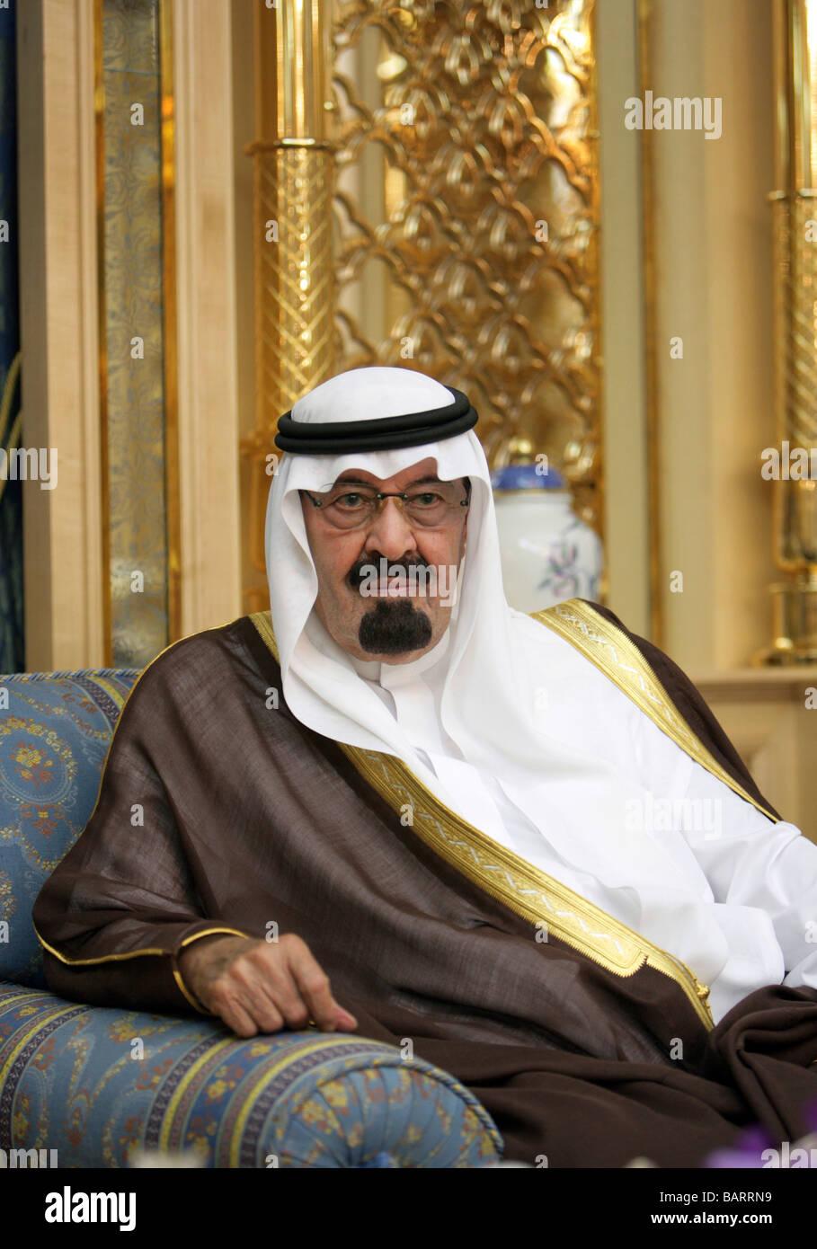 Abdullah bin Abdul Aziz Al Saud King of Saudi Arabia - Stock Image
