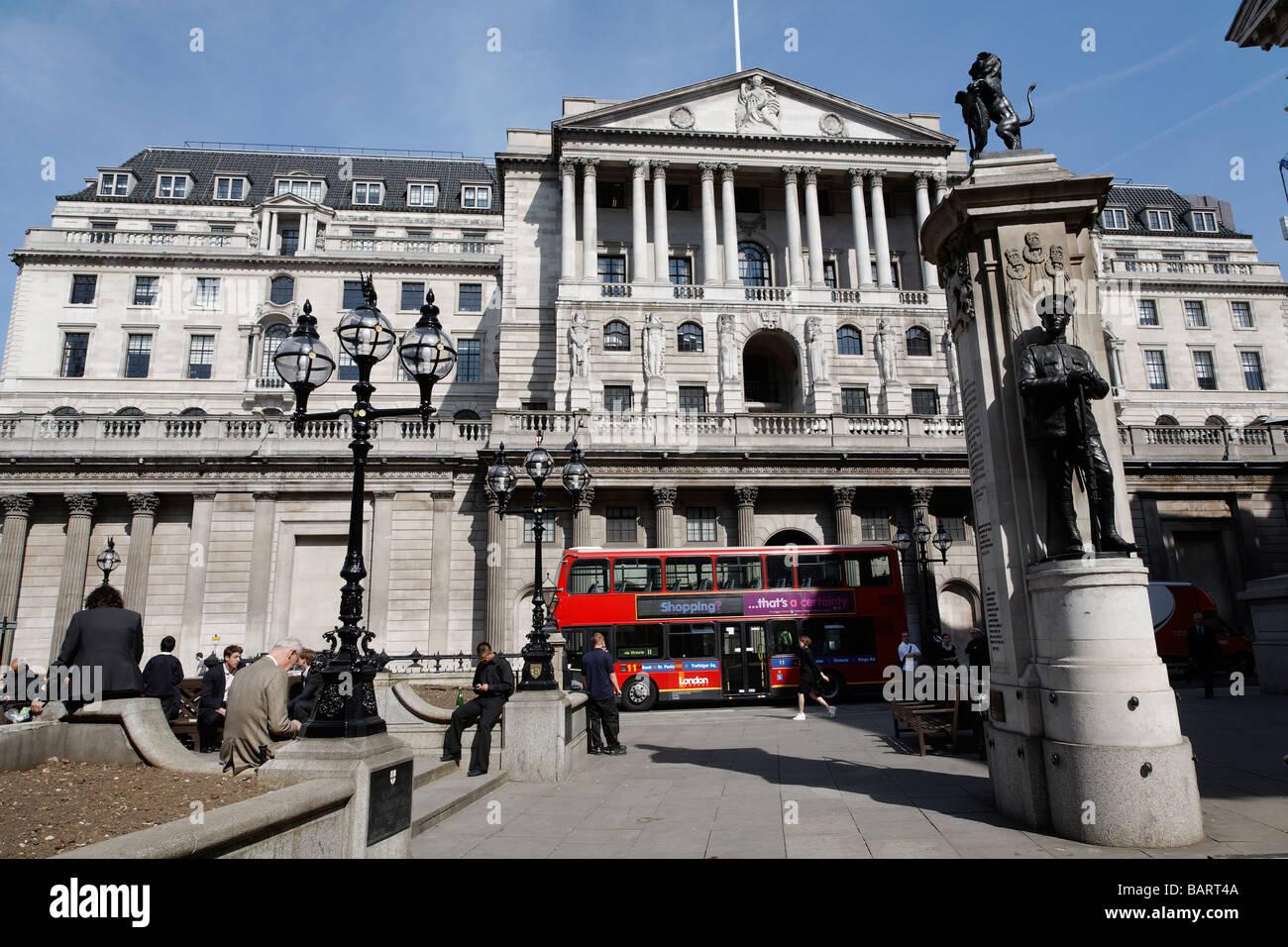 Bank of England Threadneedle Street London England - Stock Image