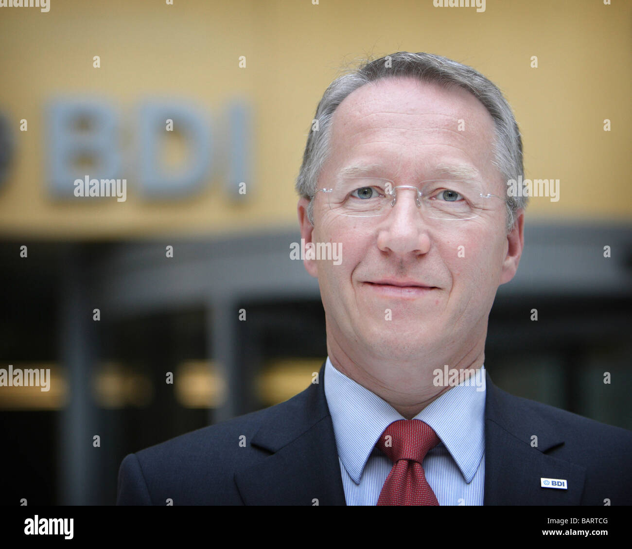 Werner SCHNAPPAUF President of the BDI Berlin Germany - Stock Image