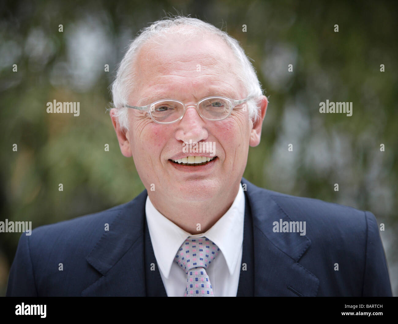 Guenter VERHEUGEN Vice President of the European Commission responsible for enterprise and industry - Stock Image