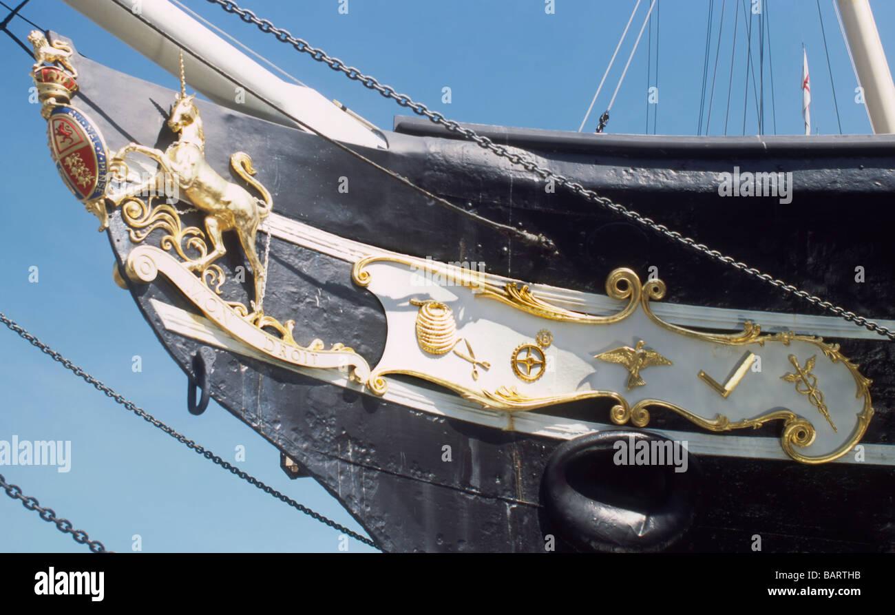 England Bristol SS Great Britain bows - Stock Image