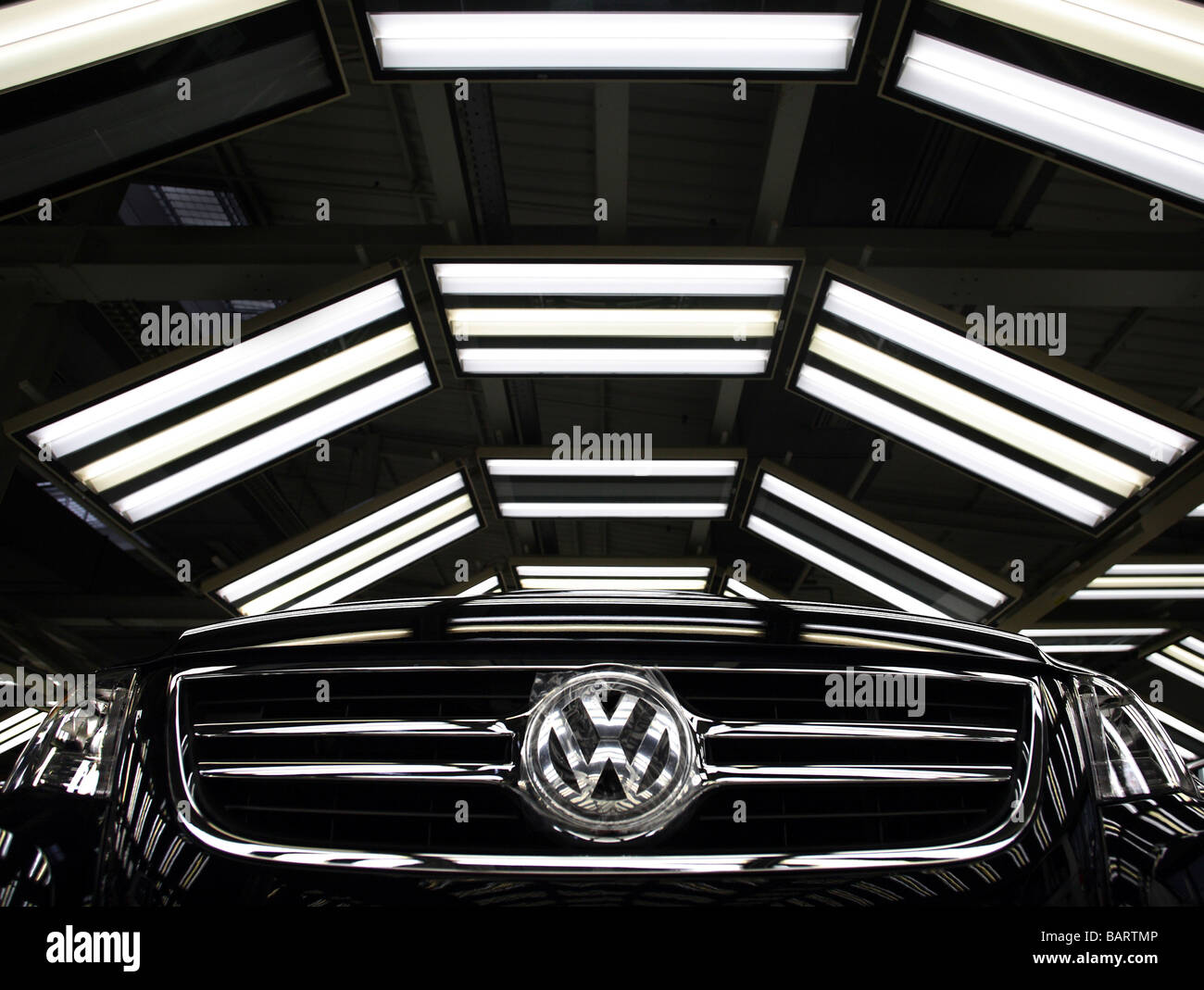 Finishing of Tiguan and Golf at Auto 5000 Gmbh Volkswagen Group Wolfsburg Germany - Stock Image