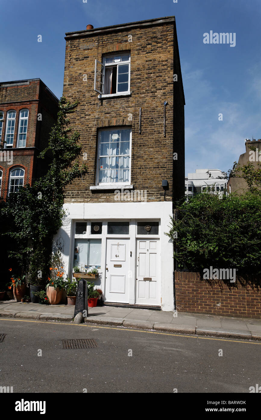 Unusual small divided Victorian house Whidborne Street, Camden, London - Stock Image