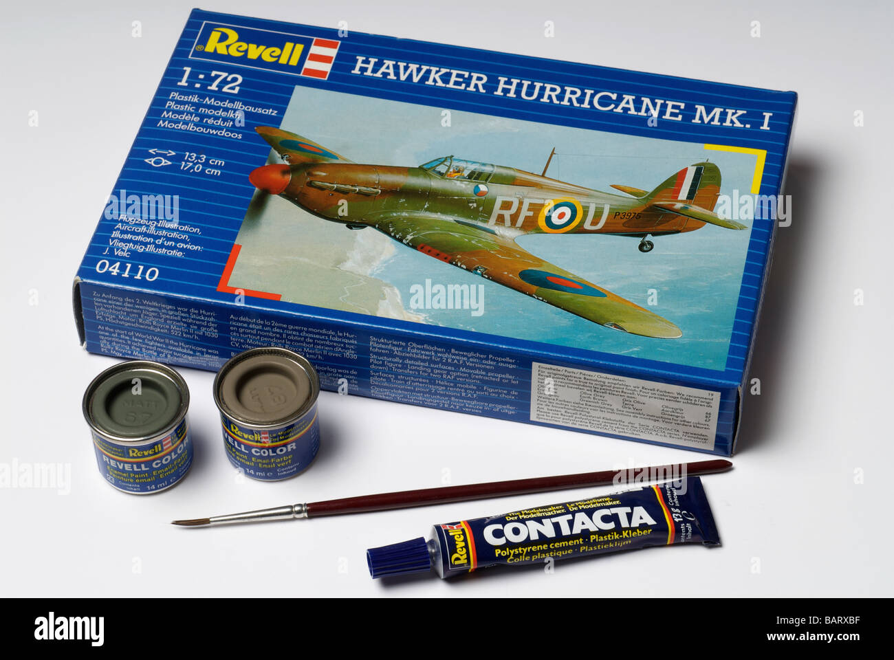 Revell 1:72 scale Hawker Hurricane plastic model kit - Stock Image