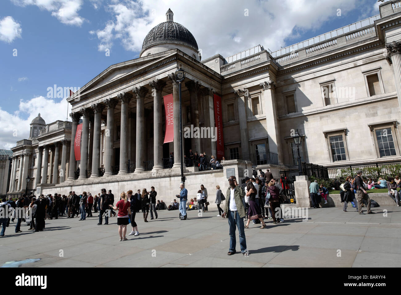The National Gallery, London, England Stock Photo