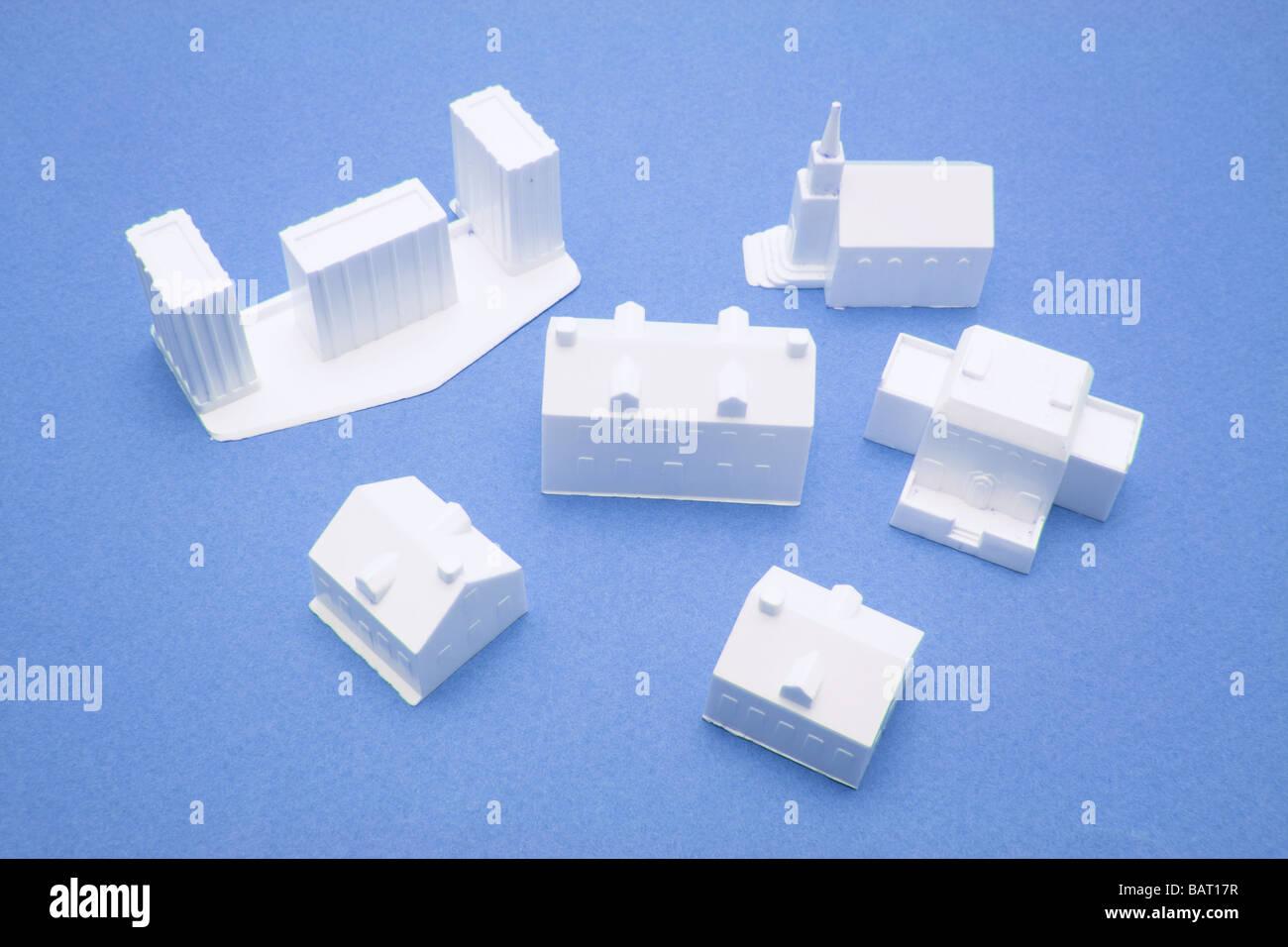 Miniature Building Models - Stock Image