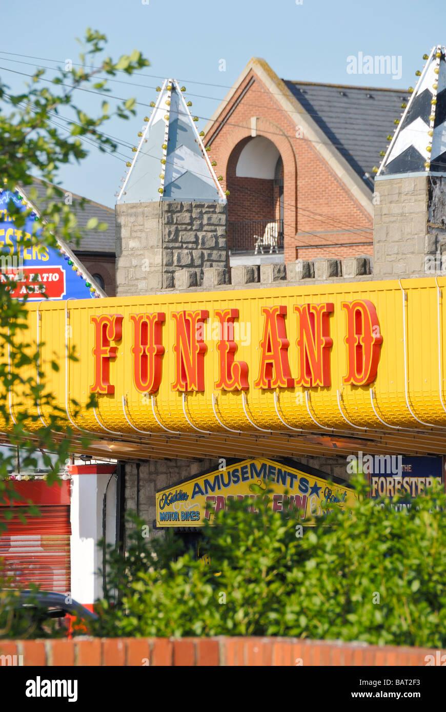 Funland Southend on Sea Essex England UK - Stock Image