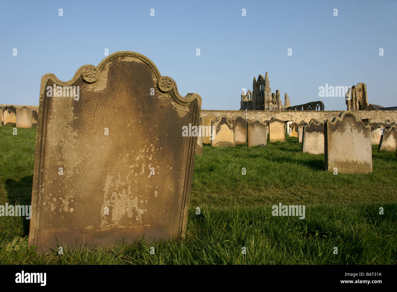 The graveyard of St Mary the Virgin Church, Whitby North Yorkshire England UK (c) Marc Jackson Photography Stock Photo