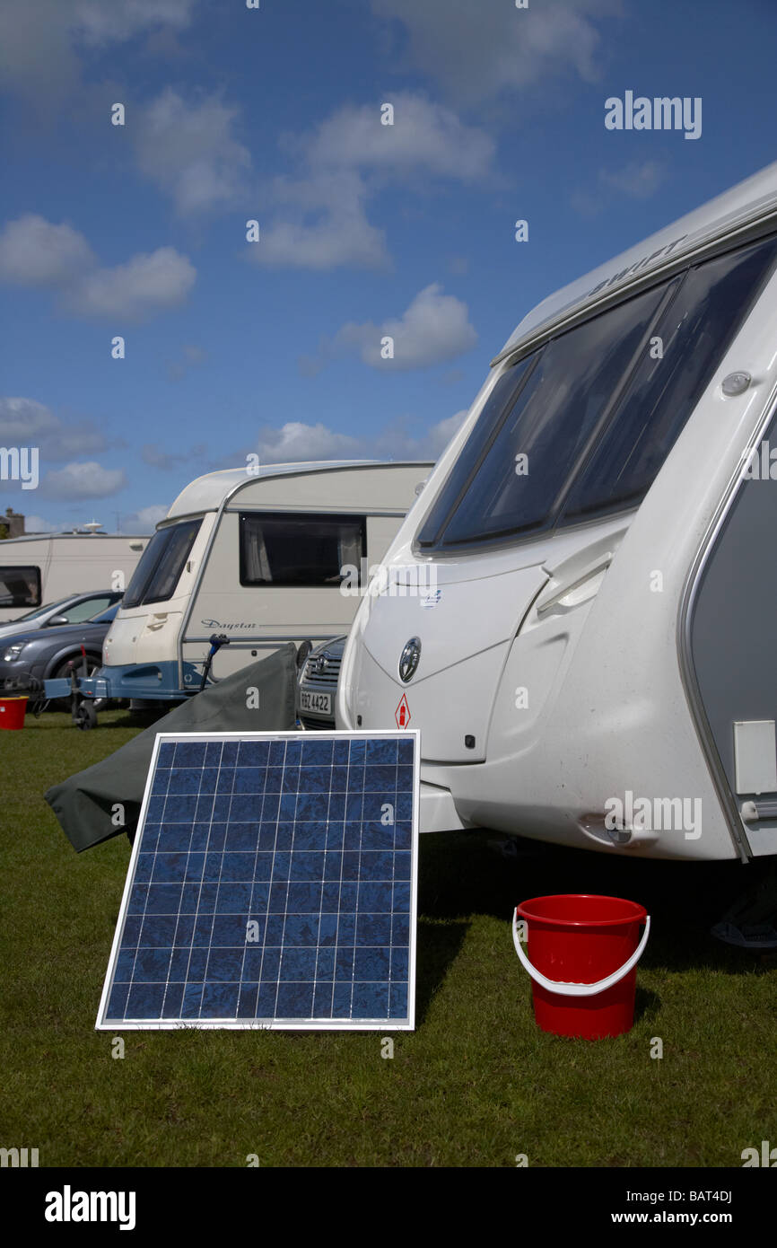 caravans and motorhomes on a caravan site in county armagh northern ireland uk - Stock Image
