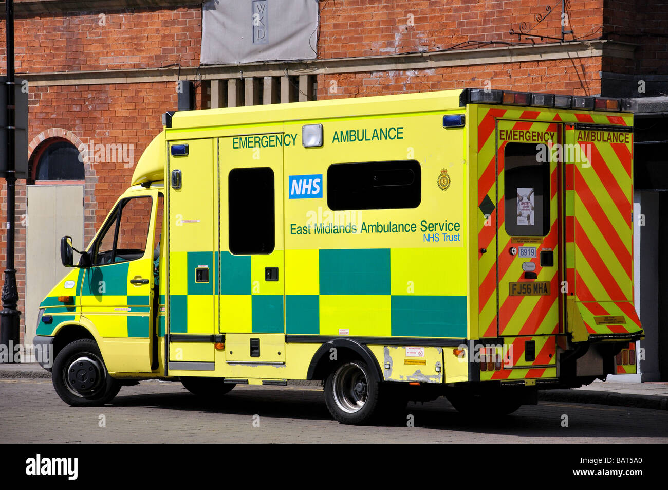 NHS East Midlands Ambulance, Ryknold Square, Chesterfield, Derbyshire, England, United Kingdom - Stock Image