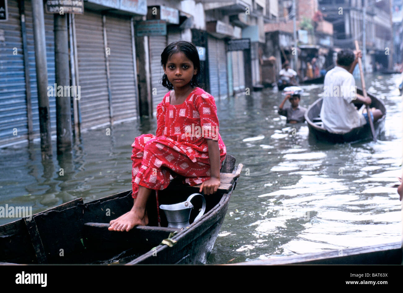 Bangladeshi girl in boat picture 787