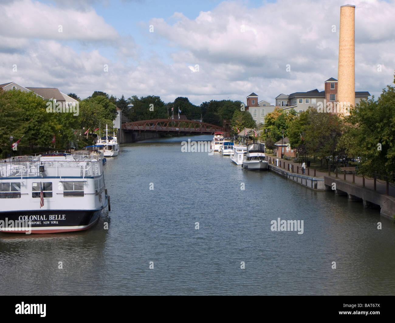 Harbor of Fairport on the Erie canal - Stock Image